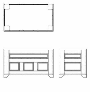 Blanket Chest CAD Design 1