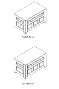 Blanket Chest CAD Design 3