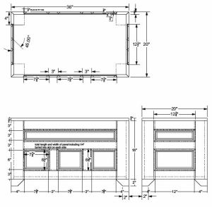 Blanket Chest CAD Design 4