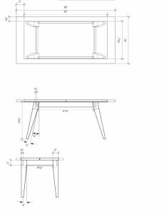 Coffee Table CAD